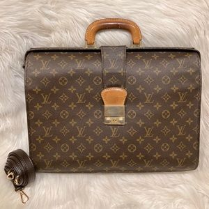 Louis Vuitton Serviette Fermoir Briefcase #9.9a
